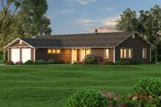Ranch Style House Plan - 3 Beds 2.5 Baths 2338 Sq/Ft Plan #445-5 Exterior - Other Elevation