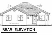 European Style House Plan - 3 Beds 2 Baths 1284 Sq/Ft Plan #18-1008 Exterior - Rear Elevation
