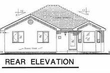 European Exterior - Rear Elevation Plan #18-1008