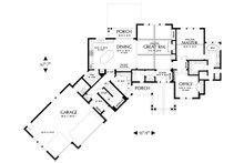 Craftsman Floor Plan - Main Floor Plan Plan #48-647