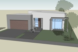 Modern Exterior - Front Elevation Plan #496-24