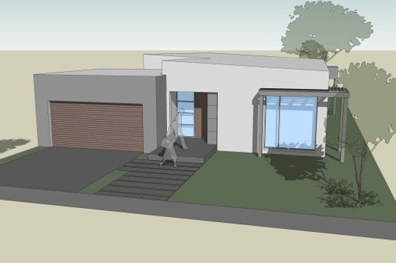 Modern Exterior - Front Elevation Plan #496-24