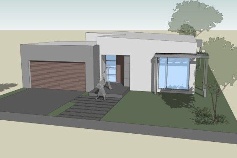 Modern Style House Plan - 3 Beds 2.5 Baths 2599 Sq/Ft Plan #496-24