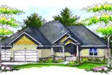 Dream House Plan - Traditional Exterior - Front Elevation Plan #70-727