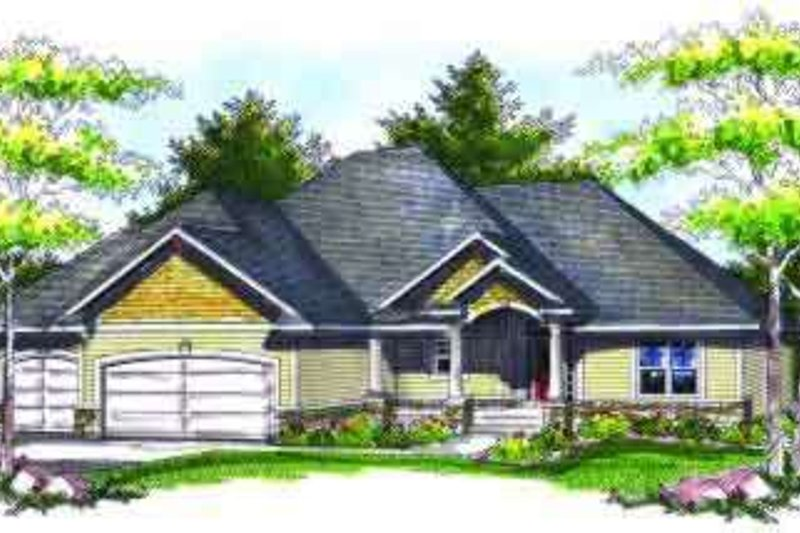 Home Plan - Traditional Exterior - Front Elevation Plan #70-727