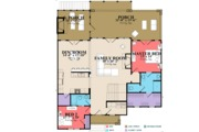 Traditional Style House Plan - 4 Beds 4 Baths 2805 Sq/Ft Plan #63-431 Floor Plan - Main Floor Plan