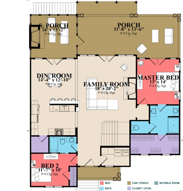 Traditional Floor Plan - Main Floor Plan Plan #63-431