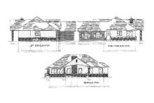 Home Plan - Traditional Exterior - Rear Elevation Plan #5-111