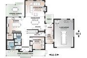 Farmhouse Style House Plan - 5 Beds 3 Baths 3599 Sq/Ft Plan #23-2688 Floor Plan - Main Floor Plan