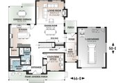 Farmhouse Style House Plan - 5 Beds 3 Baths 3599 Sq/Ft Plan #23-2688 Floor Plan - Main Floor Plan