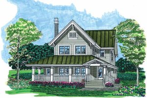 Architectural House Design - Country Exterior - Front Elevation Plan #47-1022