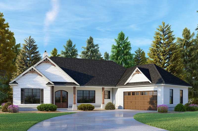 Craftsman Exterior - Front Elevation Plan #437-109