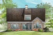 European Style House Plan - 4 Beds 2 Baths 2410 Sq/Ft Plan #137-153 Exterior - Rear Elevation