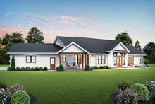 House Plan Design - Farmhouse Exterior - Rear Elevation Plan #48-1027