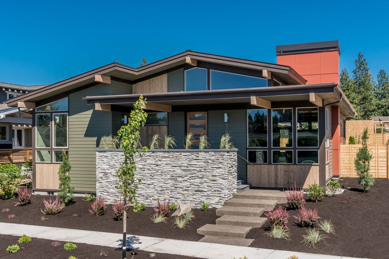 Architectural House Design - Modern Exterior - Front Elevation Plan #895-84