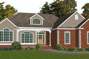 European Style House Plan - 5 Beds 3 Baths 3257 Sq/Ft Plan #63-127 Exterior - Front Elevation