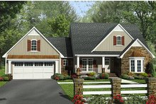 Dream House Plan - Craftsman Exterior - Front Elevation Plan #21-312
