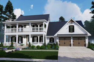 Architectural House Design - Southern Exterior - Front Elevation Plan #120-260