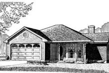 Country Exterior - Front Elevation Plan #410-227