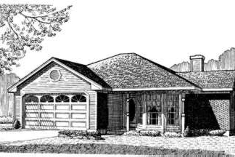 Country Exterior - Front Elevation Plan #410-227 - Houseplans.com