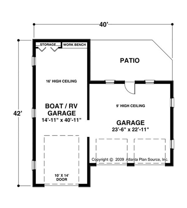 Craftsman Floor Plan - Main Floor Plan Plan #56-614
