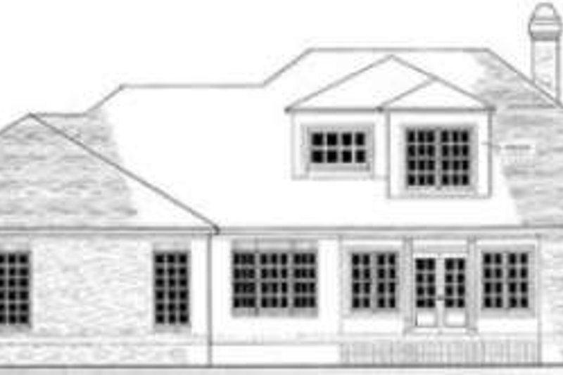 Southern Exterior - Rear Elevation Plan #406-204 - Houseplans.com