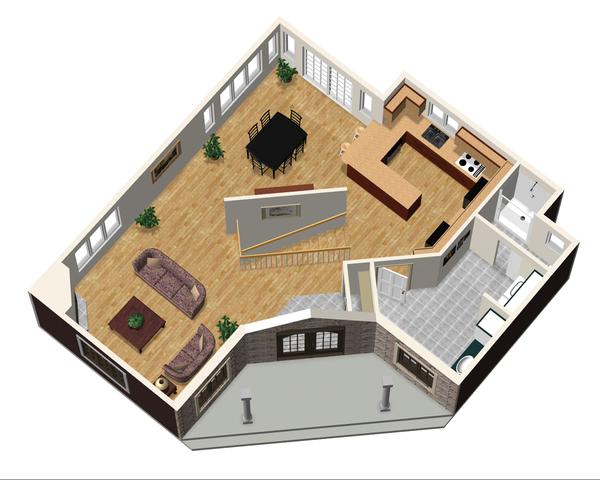 Country Floor Plan - Main Floor Plan Plan #25-4743