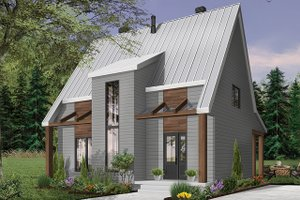 Home Plan Design - Modern Exterior - Front Elevation Plan #23-2682