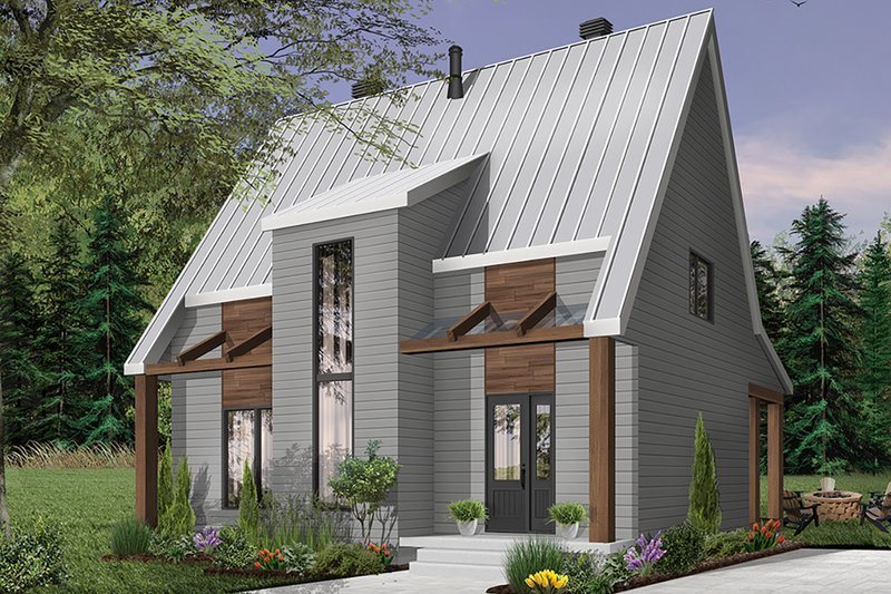Modern Exterior - Front Elevation Plan #23-2682
