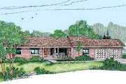 Ranch Style House Plan - 3 Beds 2 Baths 1516 Sq/Ft Plan #60-414 Exterior - Front Elevation