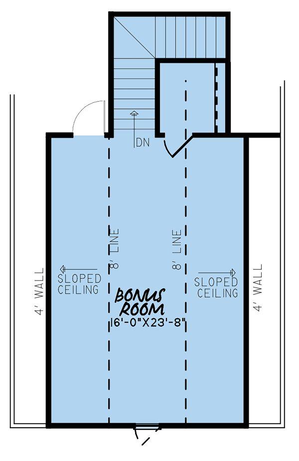 Traditional Floor Plan - Upper Floor Plan Plan #923-145