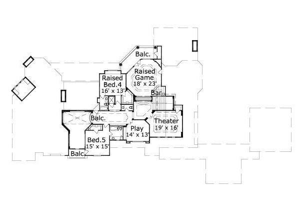 European Floor Plan - Upper Floor Plan Plan #411-381