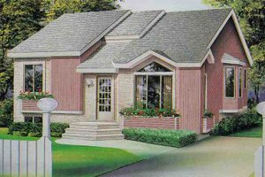 Traditional Exterior - Front Elevation Plan #25-1128
