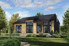 House Plan Design - Cottage Exterior - Front Elevation Plan #25-4935
