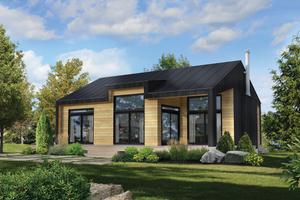Cottage Exterior - Front Elevation Plan #25-4935