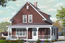 Dream House Plan - Country Exterior - Front Elevation Plan #23-2239