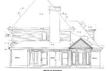 Victorian Exterior - Rear Elevation Plan #410-272