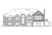 Home Plan - European Exterior - Rear Elevation Plan #5-318