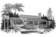 Country Style House Plan - 2 Beds 1 Baths 1000 Sq/Ft Plan #22-128 Exterior - Other Elevation