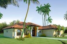 Dream House Plan - Mediterranean Exterior - Front Elevation Plan #80-113