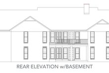 Home Plan - Traditional Exterior - Rear Elevation Plan #45-130