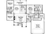 Craftsman Style House Plan - 3 Beds 2 Baths 1924 Sq/Ft Plan #21-274 Floor Plan - Main Floor Plan