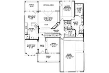 Traditional house plan, Craftsman details, floorplan