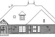 European Style House Plan - 4 Beds 3.5 Baths 2793 Sq/Ft Plan #310-994 Exterior - Rear Elevation