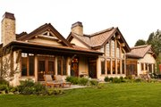 Craftsman Style House Plan - 4 Beds 5 Baths 4220 Sq/Ft Plan #451-20 Exterior - Rear Elevation