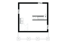 Cabin Floor Plan - Lower Floor Plan Plan #23-2301