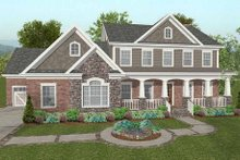 Craftsman Exterior - Front Elevation Plan #56-587