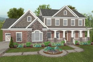Dream House Plan - Craftsman Exterior - Front Elevation Plan #56-587