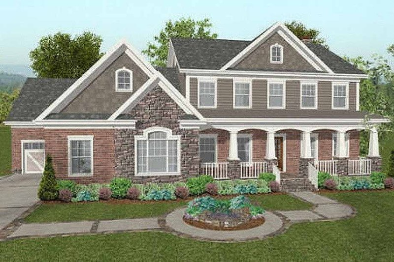Craftsman Exterior - Front Elevation Plan #56-587