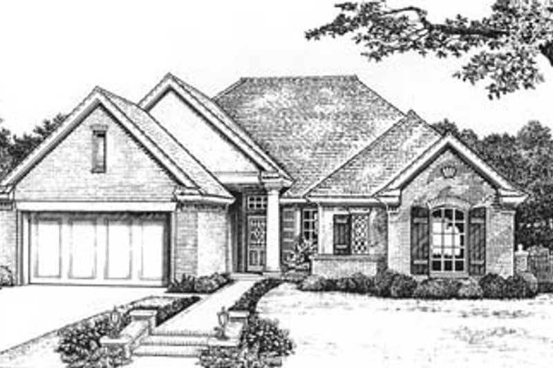 Colonial Style House Plan - 4 Beds 2 Baths 1804 Sq/Ft Plan #310-579 Exterior - Front Elevation